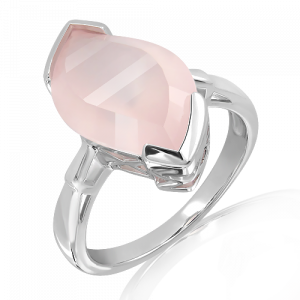 Special Faceted Rose Quartz Silver Ring