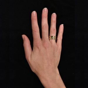 Handmade Gold Ring With Diamonds