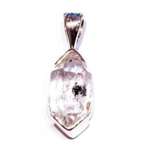Herkimer Diamond in Contemporary Silver Pendant