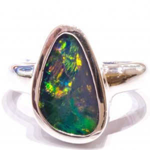 Handmade Sterling Silver Australian Opal Ring