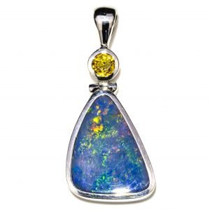 Opal and Citrine Pendant