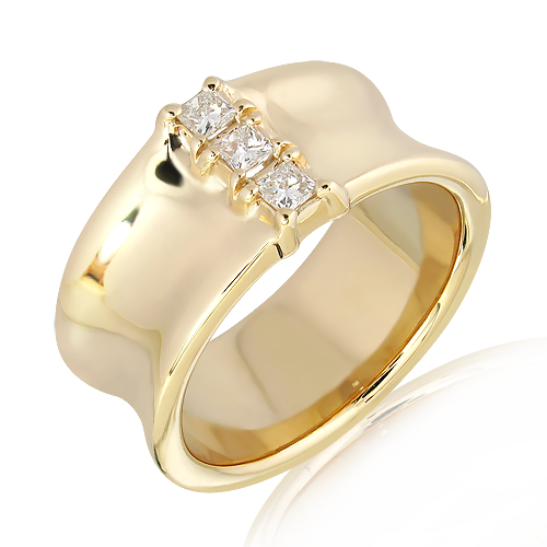 Handmade Solid Gold ring with Diamonds