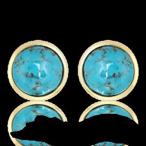 Arizona Turquoise Studs in Gold