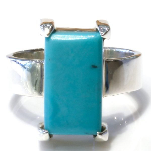 Handmade Silver Ring with Arizona Turquoise