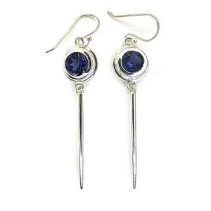 Iolites Handmade Silver Earrings