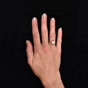 Rose Quartz Ring in Rose Gold