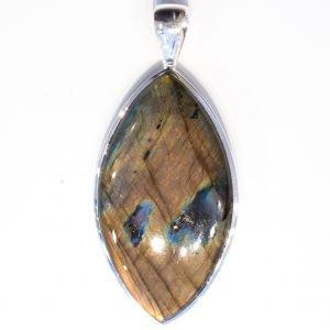 Labradorite in Handmade Silver Pendant
