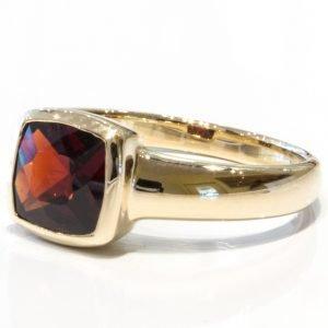 Garnet Handmade Gold Ring
