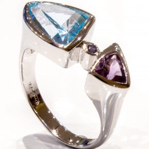 Amethyst and Blue Topaz Ring