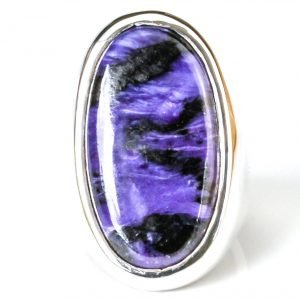 Sugilite Stone set in Handmade Silver Ring