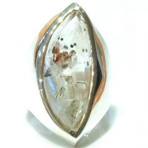 Pyrite in Quartz Handmade Ring