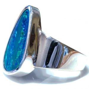 Australian Opal Silver Ring
