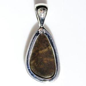 Australian Opal Handmade Pendant in Silver