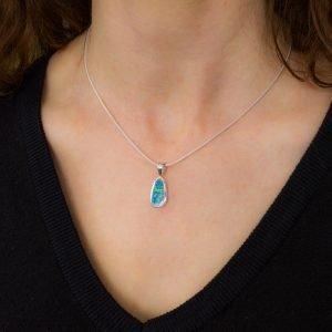 Australian Opal Handmade Silver Pendant