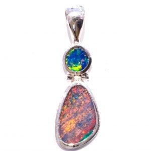 Australian Opals Handmade Silver Pendant