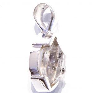 Herkimer Diamond in Handmade Silver Pendant