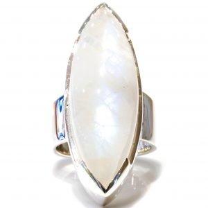 Blue Moonstone in Handmade Ring