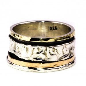 Israeli Gold and Silver Bands Ring