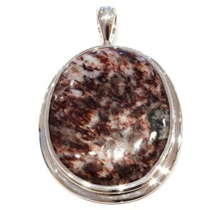 Astrophyllite Handmade Pendant in Silver