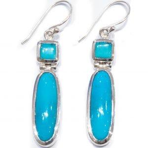 Arizona Turquoise Handmade Earrings in Silver
