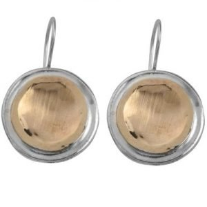 Brushed Gold and Silver Handmade Earrings