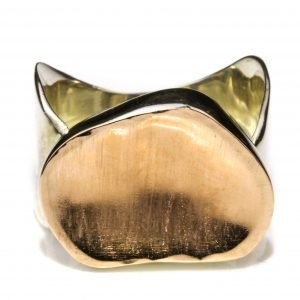 Gold and Silver Handmade Ring