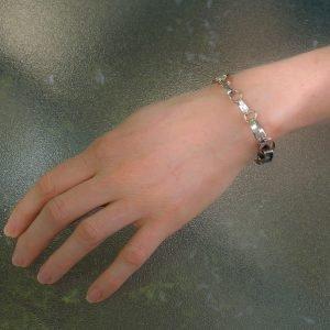 Silver and Gold Handmade Bracelet
