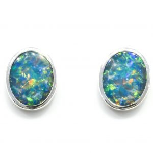 Australian Opals in Handmade Studs
