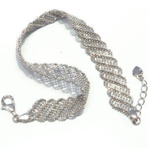Elegant Silver Mesh Bracelet
