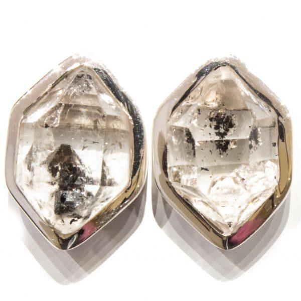 Herkimer Diamonds Handmade Studs in Silver