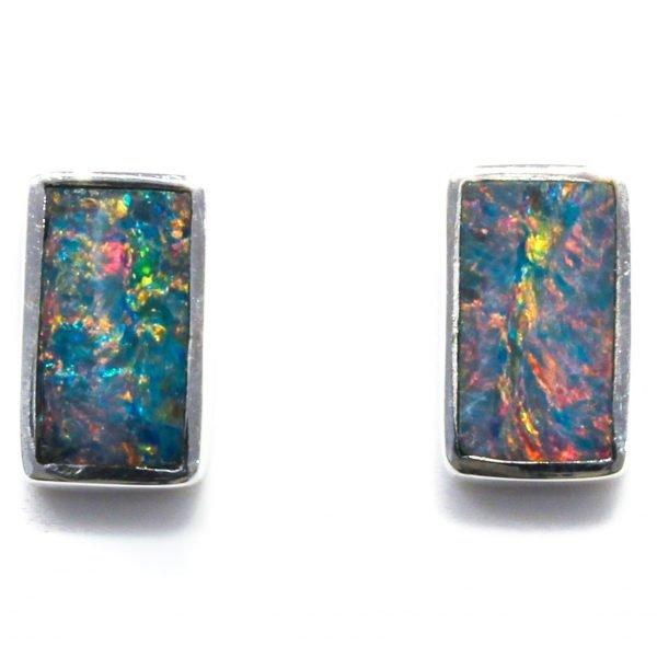 Australian Opal Silver Studs