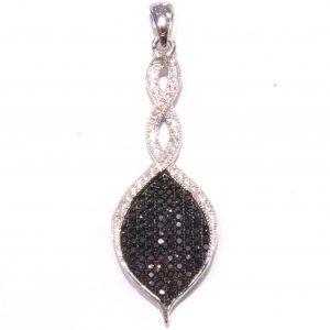 Elegant Italian Pendant in Sterling Silver