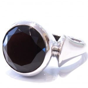 Faceted Onyx Handmade Silver Ring