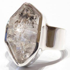 Herkimer Diamond Handmade Silver Ring