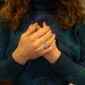 Aquamarine Handmade Silver Ring