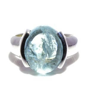 Aquamarine Handmade Silver Ring. Crafted in Melbourne