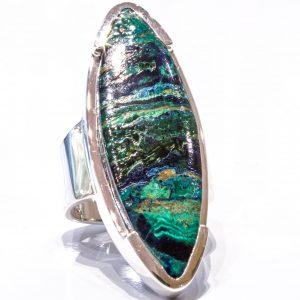 Large Chrysocolla Handmade Ring