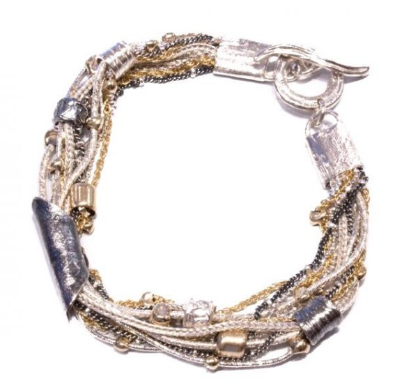 Israeli Made Bracelet in Gold And Silver