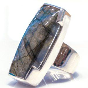 Labradorite Handmade Sterling Silver Ring