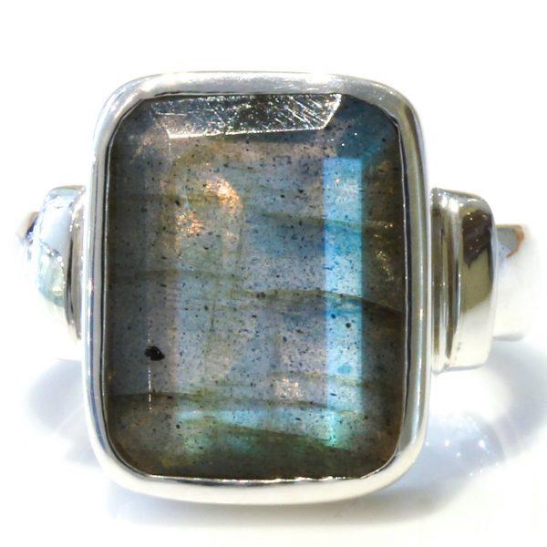 Faceted Labradorite Handmade Ring