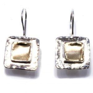 Israeli Square Drop Earrings