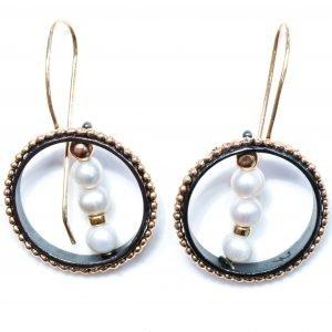 Israeli Earrings with Pearls