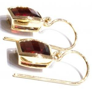 Garnets Handmade Gold Earrings
