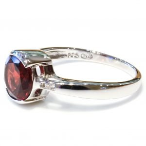 Handmade Garnet Silver Ring