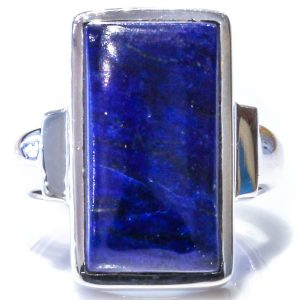 Handmade Sterling Silver Ring with Lapis Lazuli