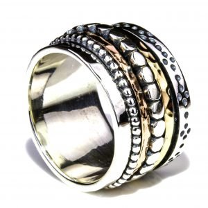 Israeli Gold and Silver Ring