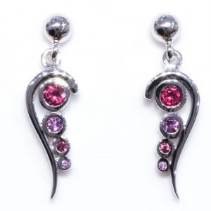 Amethyst and Garnet Handmade Earrings