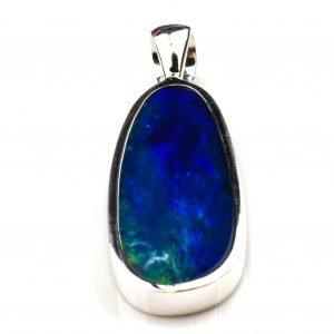 Handmade Deep Blue and Green Opal Pendant