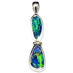 Handmade Opal and Silver Pendant