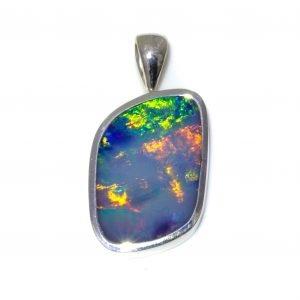 Large Black Opal Pendant